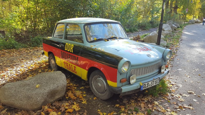 Germany - Harz Mountains - Thale - Trabi advertizing the DDR museum