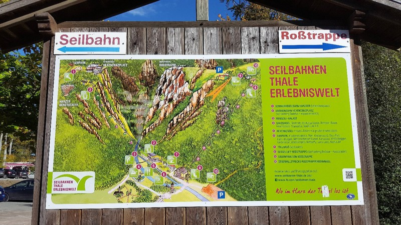 Germany - Harz - Bodetal canyon - the entrance in Thale