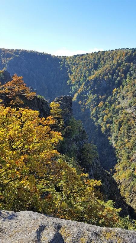 Germany - Harz - Bodetal - above the canyon at Roßtrappe