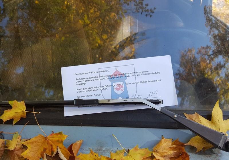 Germany - Harz - Bodetal canyon - now he got a parking ticket!