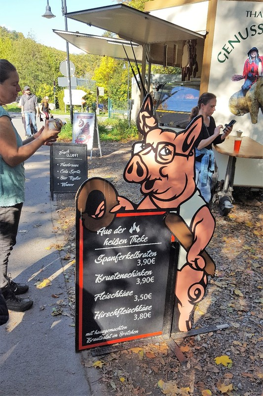 """Germany - Harz Mountains - Thale - where """"Schwein"""" equals ham and sausages"""