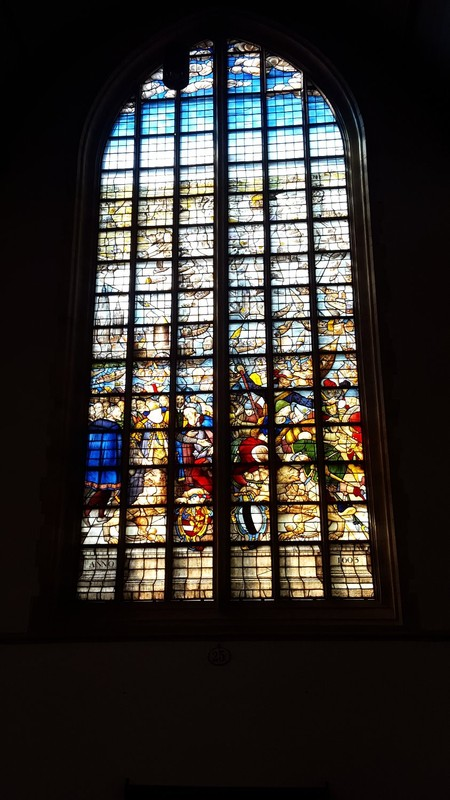 Netherlands, Gouda, the world famous stained windows of St. John's church