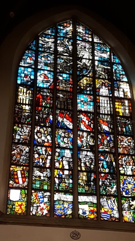 Netherlands, Gouda, the world famous stained windows of the St. John's church