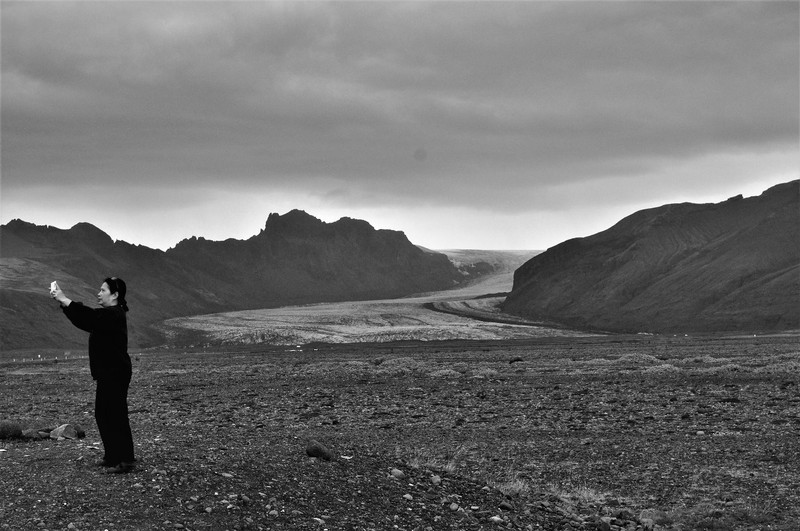 Iceland, the intimidating scenery under the dark clouds