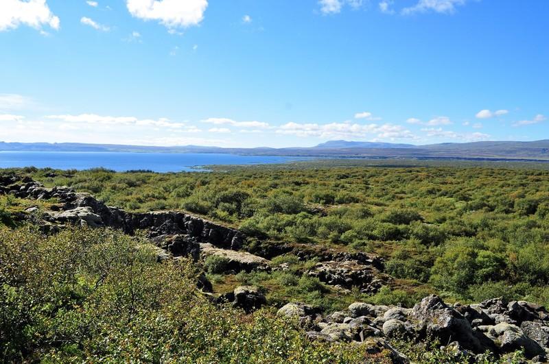 the scenery around Þingvellir iceland
