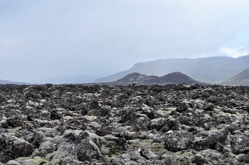 Lava fields and volcanoes, close to Stykkishólmur