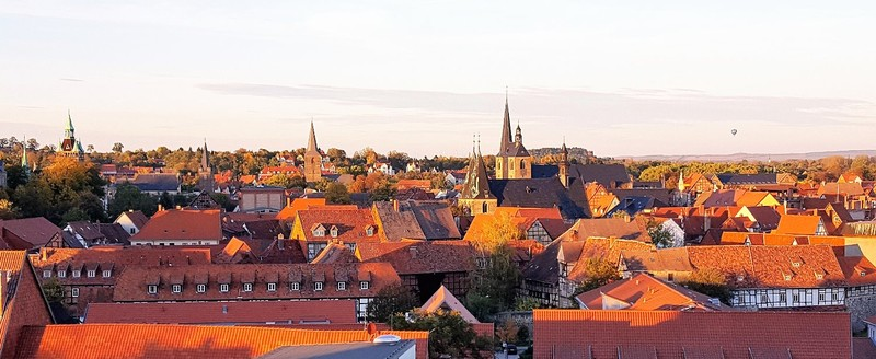 Germany - Harz - Quedlinburg, view from castle hill