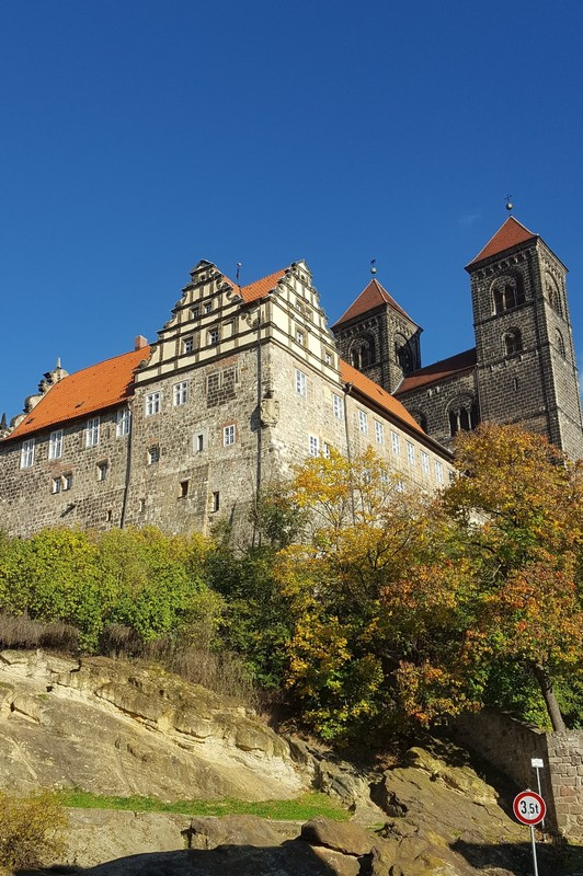 Germany - Harz - Quedlinburg, castle hill with abbey and church
