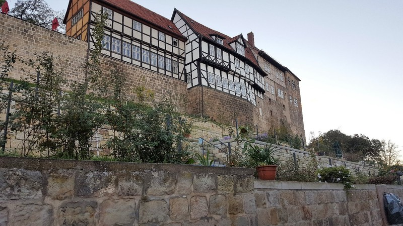 Germany - Harz - Quedlinburg, Casle hill, towering above the old town