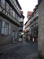 Germany - Harz - Quedlinburg, narrow streeet lower old town