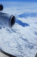 Flying over Greenland on the way to Toronto and Las Vegas