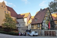 Germany - Harz - Quedlinburg, inside the fortification of castle hill