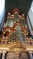 Netherlands, Gouda, the impressive organ of St. John's church