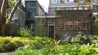 Netherlands, Gouda, the pretty garden behind the Gouda Museum