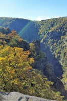 Germany - Harz - Bodetal - above the canyon at Roßtrappe