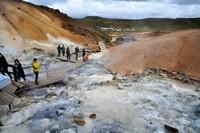 Iceland Krýsuvík geothermal mud volcanoes