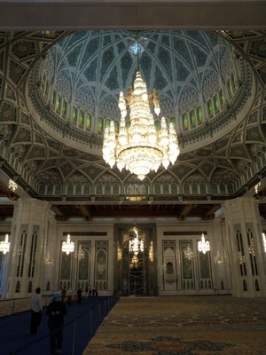 World's largest chandelier in Main Prayer Hall of Grand Mosque