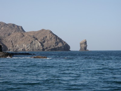 Cruising to snorkel site in Oman
