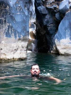 John navigating through Snake Gorge