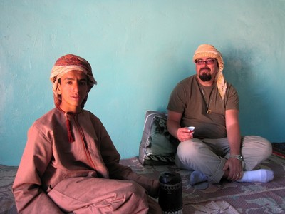 Saif and John in Majlis (Mark Kirchner photograph - all copyrights reserved)