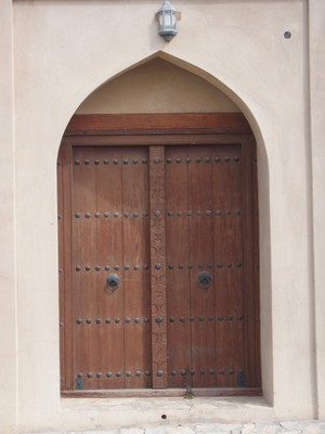 Ibri Fort - it was Mohammed's Birthday so the doors remain shut.