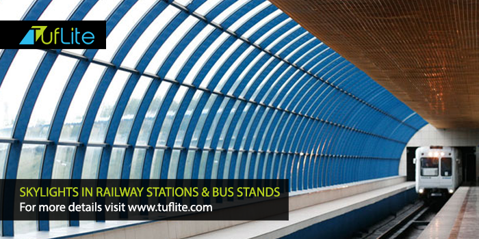 Skylights In Railway Stations & Bus Stands - Tuflite Polymers