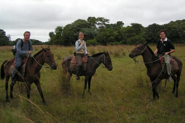 horseback riding through Pantanal