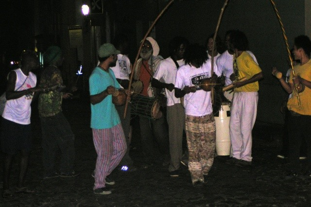 Olodum band on the streets of downtown Salvador