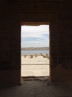 Philae Temple view through other island
