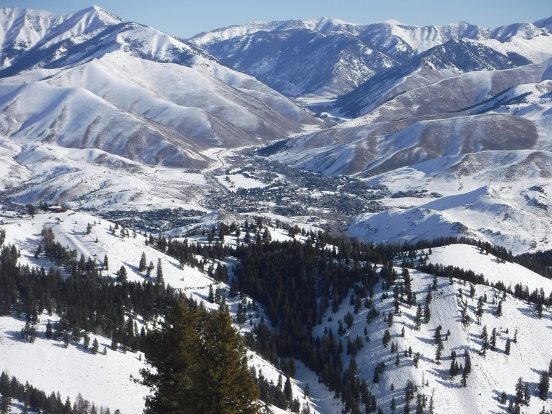 View of Sun Valley, Idaho