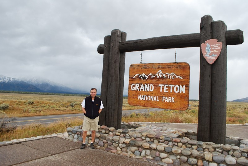 Entrance to the Grand Teton National Park, Wyoming
