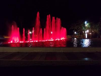 SALOU,  SPAIN.  Nighttime fountains.