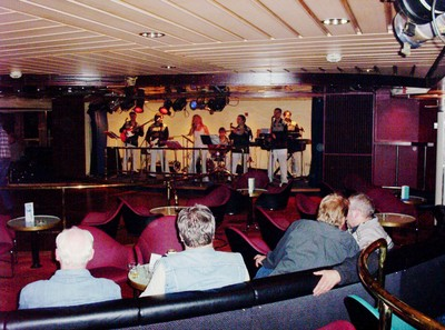 ENTERTAINMENT ON BOARD FERRY TO NEWCASTLE.