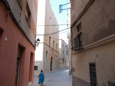 TORTOSA,  SPAIN.   -- Narrow street in town  centre.
