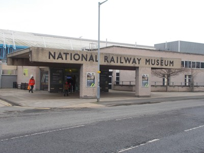 ENTRANCE TO RAILWAY MUSEUM  YORK