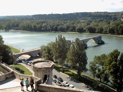 AVIGNON  FRANCE. ---  Pont ST-Benezet  on  the  river  Rhone.