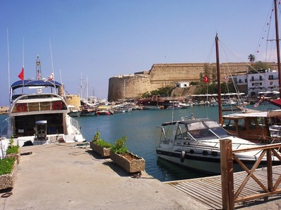 CYPRUS  KYRENIA.   Castle by the harbour.