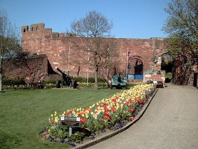 SHREWSBURY  ENGLAND.--Red  brick  castle.