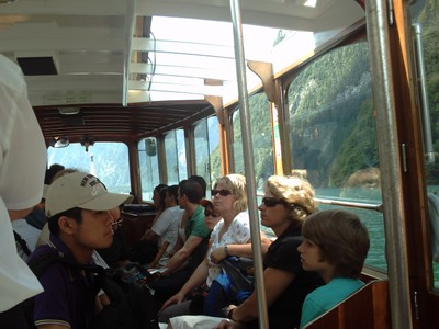 LAKE  KONIGSSEE   GERMANY  --  On  board  the  electric  boat.
