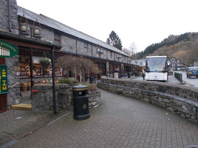 BETWS-Y-COED  WALES. Shopping area near rail station.