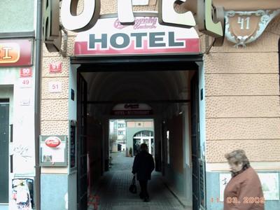 CZECH,  CESKY BUDEJOVICE   Hotel down passageway.