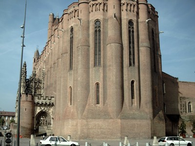 ALBI  FRANCE.  Cathedral  from  the  east.