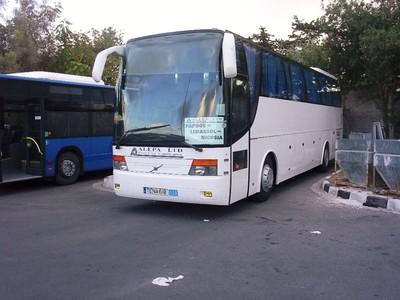 CYPRUS  PAPHOS   Intercity bus for Nicosia.