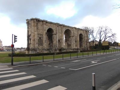 REIMS,  FRANCE. --  Porte Mars Roman Arch.  32m  long.