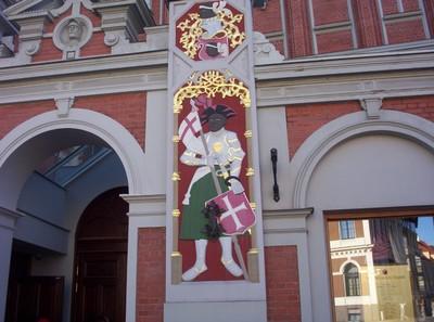 RIGA LATVIA.  House of the Brotherhood of Blackheads.