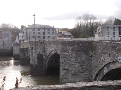 CARDIGAN WALES,  First stone bridge built in the 15th century.
