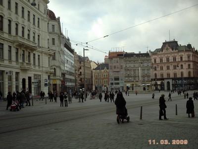 CZECH  BRNO.----Compact city centre.