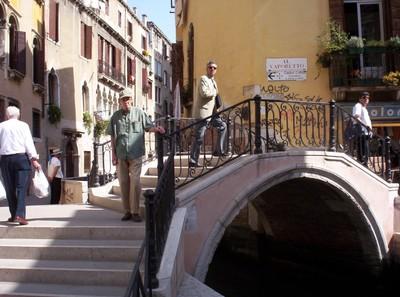 VENICE  ITALY.  Little bridge over canal.