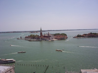 VENICE,  View from top of Tower in St. Marks Square.
