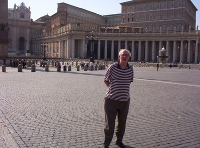 VATICAN CITY  ITALY.  St,. Peters Square, early morning in the month of May.